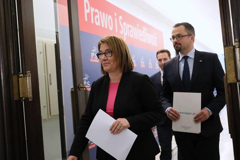 Rzecznik PiS Beata Mazurek i poseł Marcin Horała