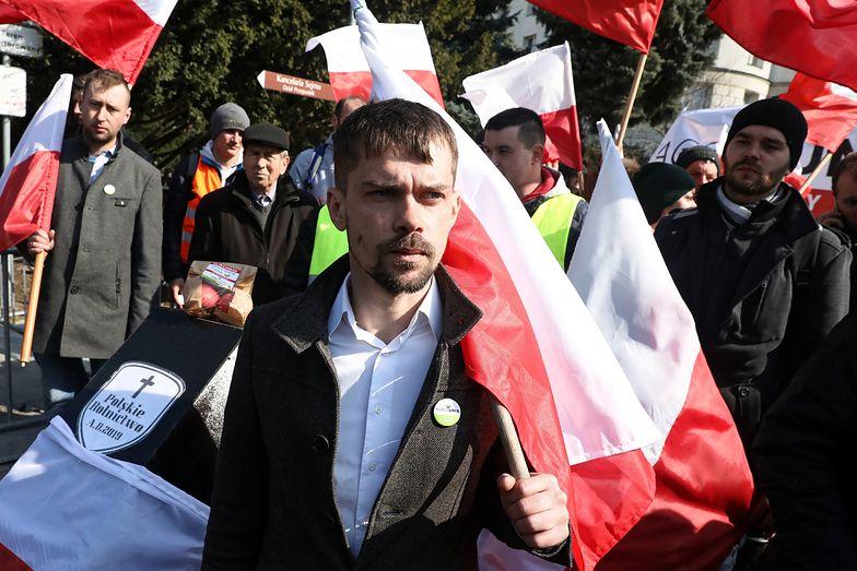 Michał Kołodziejczak zapowiada strajk ostrzegawczy rolników i powołanie związku zawodowego