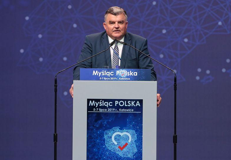 Tadeusz Romańczuk - do niedawna wiceminister, teraz prezes spółdzielni Bielmlek. Tej samej, która stoi na skraju upadłości