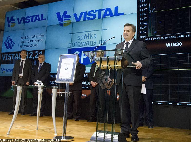 Prezes Ryszard Matyka, wprowadzając Vistal Gdynia na giełdę w 2014 roku, nie spodziewał się takich problemów.