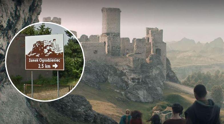 Zamek Ogrodzieniec wykorzystano w trakcie realizacji serialu Wiedźmin.