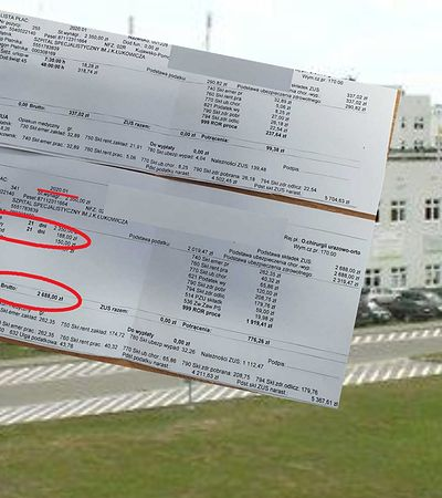 """Pracownik szpitala pokazuje pasek z """"płacą minimalną"""". Do gry wkroczyła inspekcja pracy"""