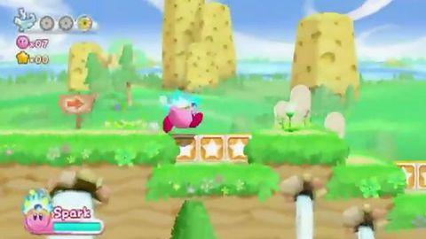 Różowa kulka i jej wesoła kompania na startowym zwiastunie Kirby's Adventure Wii