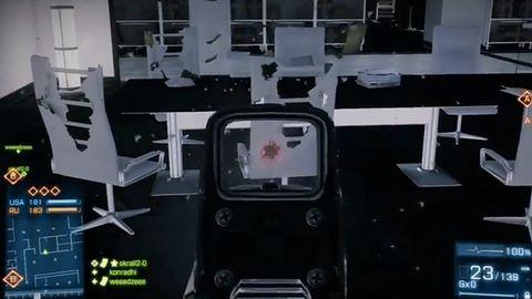 Tylko spójrzcie, jaki wycisk daję krzesłom i poduchom na nowej mapie do Battlefield 3