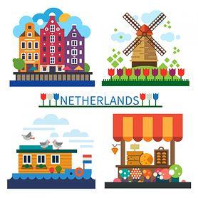 Holandia - kolorowanka