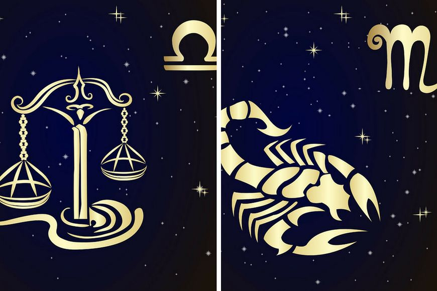 Wizerunki znaków zodiaku - Wagi i Skorpiona