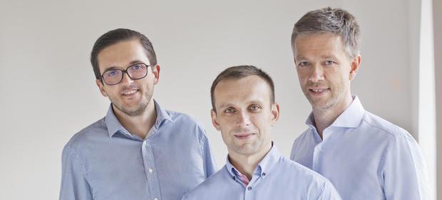 Krystian Piećko, Paweł Wieczyński, Sergiusz Borysławski - twórcy DataWalk.