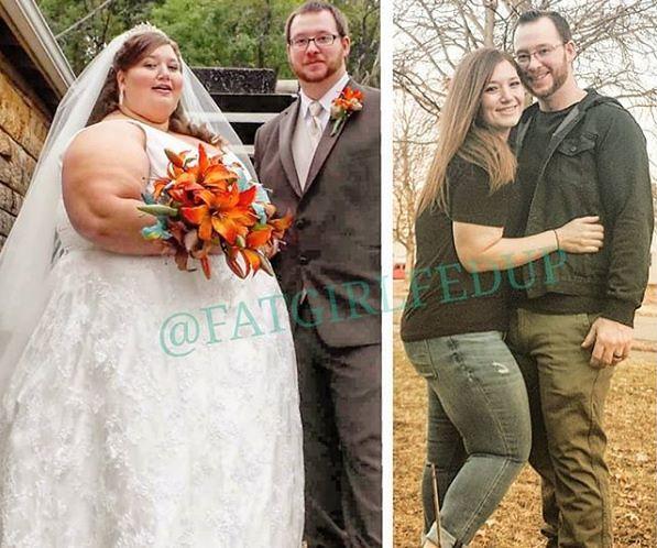 www.instagram.com/fatgirlfedup Małżonkowie Alexis i Danny Reed schudli razem 185 kg