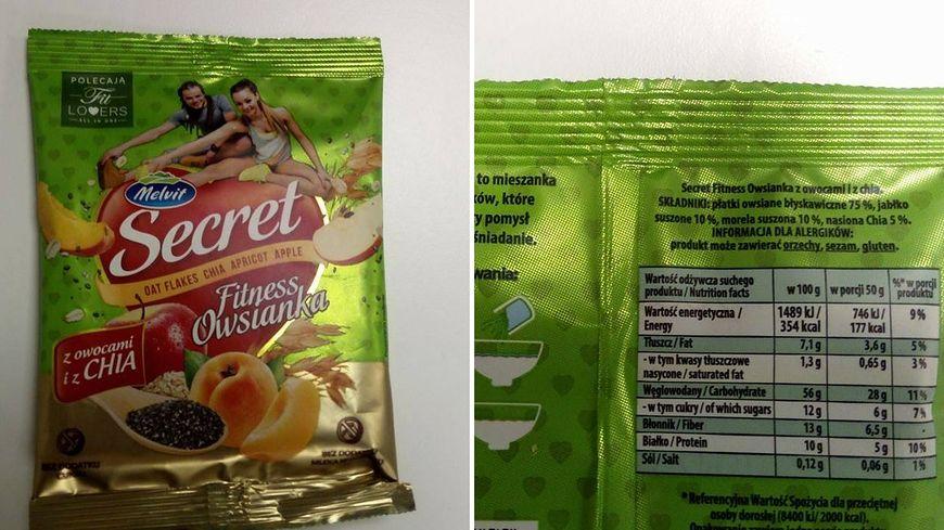 Fitness Owsianka to produkt bez cukru
