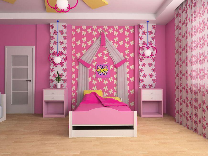 Motylki w pokoju dziewczynki