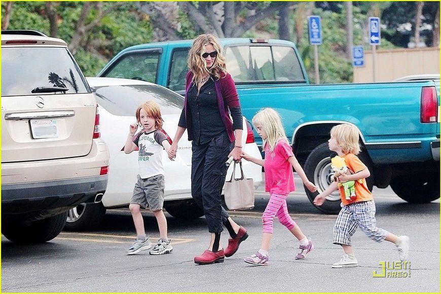 Julia Roberts z dziećmi