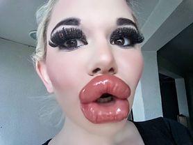 """22-letnia """"żywa Barbie"""" twierdzi, że ma największe usta na świecie. Andrea Ivanova pochodzi z Bułgarii"""