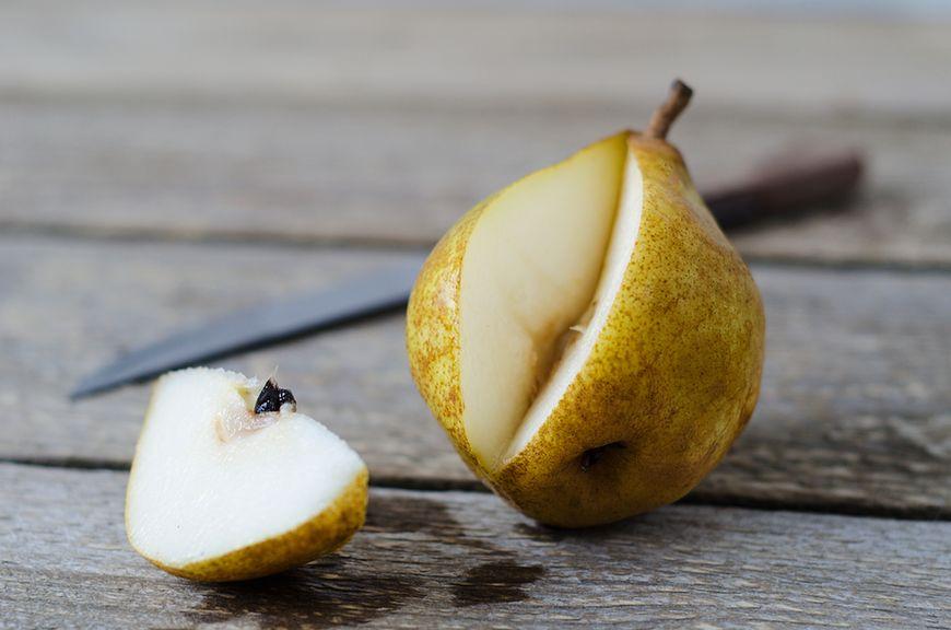 Gruszki zawierają fruktozę