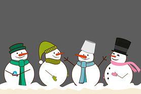 Bałwanek na śniegu - kolorowanka