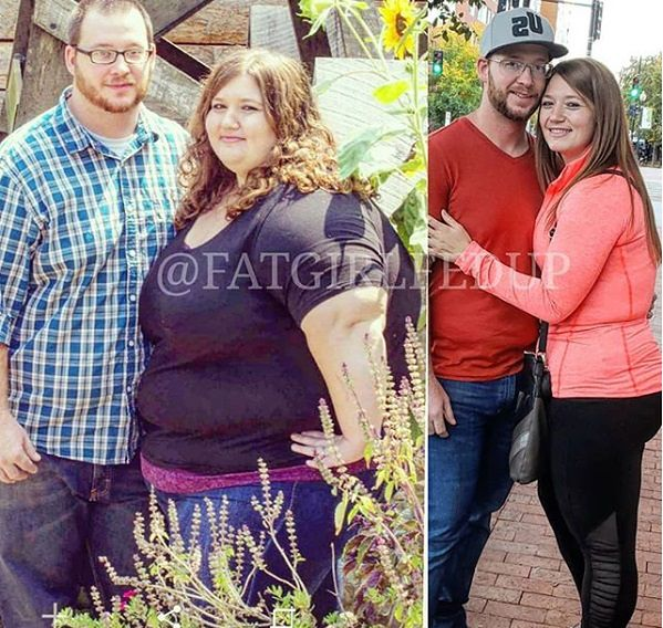 www.instagram.com/fatgirlfedup Alexis i Danny dziś dbają o zdrową dietę