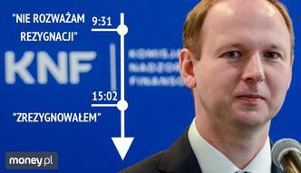 Przewodniczący KNF podał się do dymisji. Miał złożyć propozycję korupcyjną Leszkowi Czarenckiemu