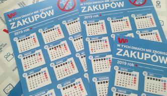 Kalendarz niedziel handlowych 2019. Zasada jest prosta