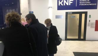 Posłowie PO i .N w siedzibie KNF z interwencją poselską