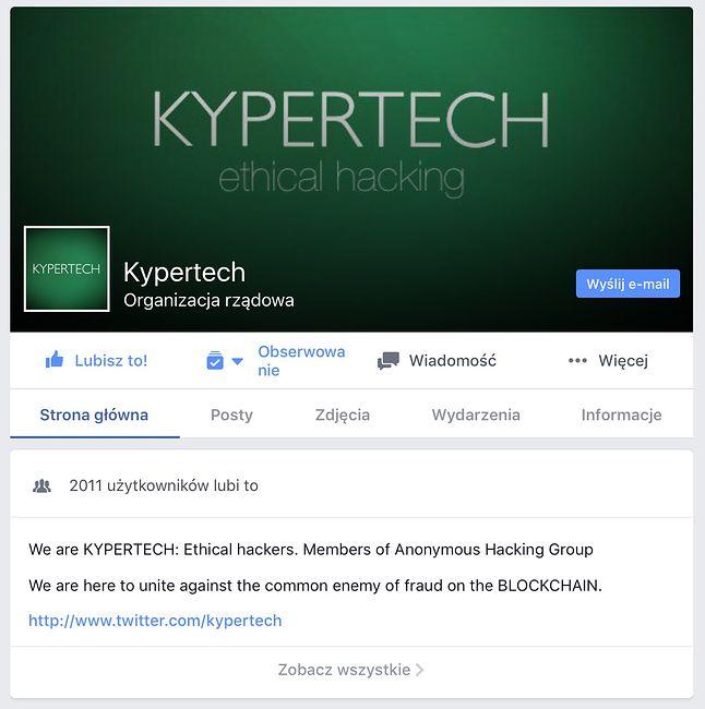 Kypertech, czyli etyczni hakerzy. Ponoć współpracują z FBI i Interpolem.