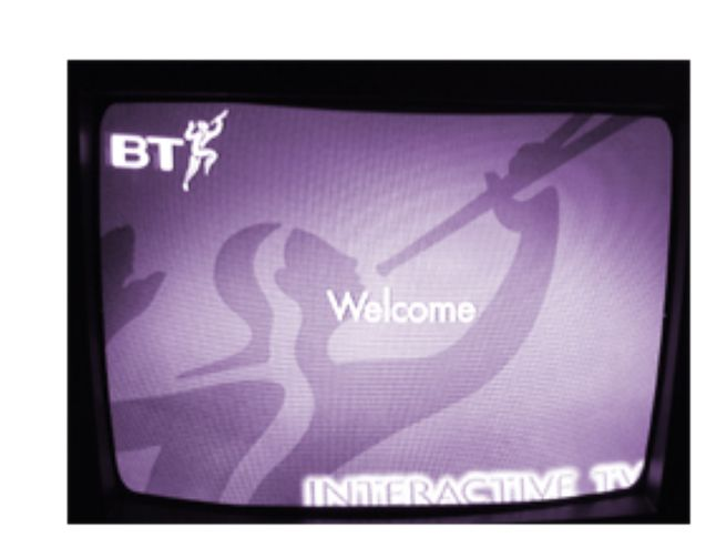 Ekran startowy Apple ITB z British Telecom