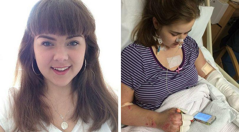 21-letnia Charlotte Hannibal w wyniku doznania zapalenia opon mózgowych, została trwale niepełnosprawna