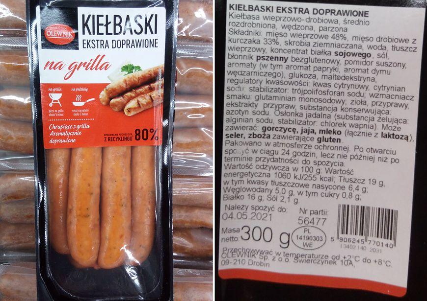Kiełbaski firmy Olewnik
