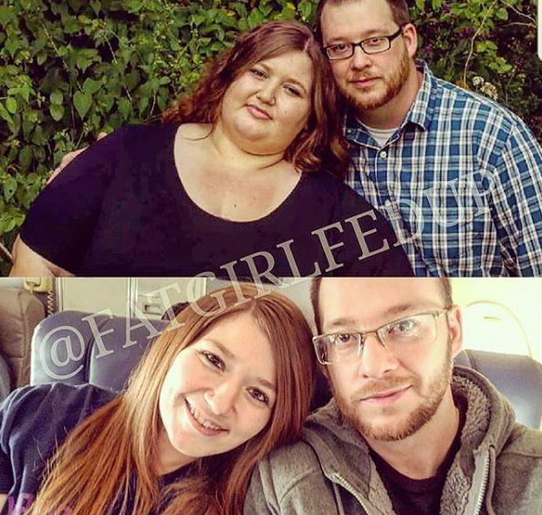 www.instagram.com/fatgirlfedup Po niezwykłej metamorfozie para może na nowo odkrywać uroki życia