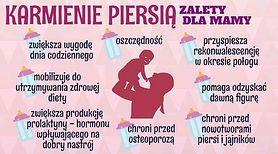 Karmienie piersią - zalety dla mamy