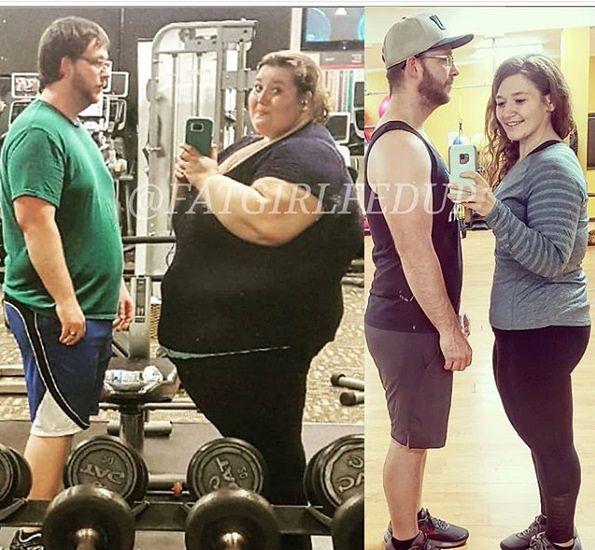www.instagram.com/fatgirlfedup W ciągu dwóch lat para przeszła kompletną metamorfozę