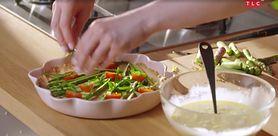 Pomysł na obiad - krucha tarta z warzywami (WIDEO)