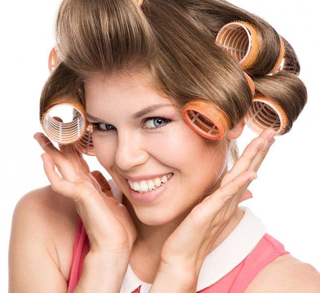 Wałki na rzepy do włosów