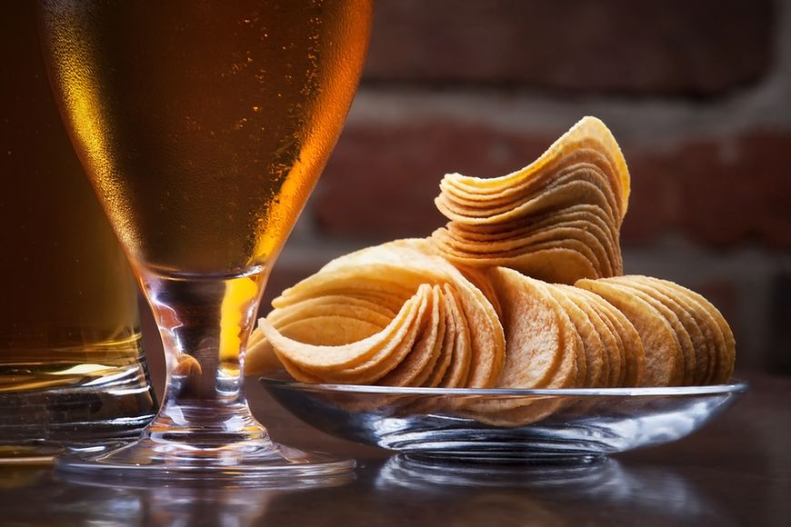 Piwo i chipsy