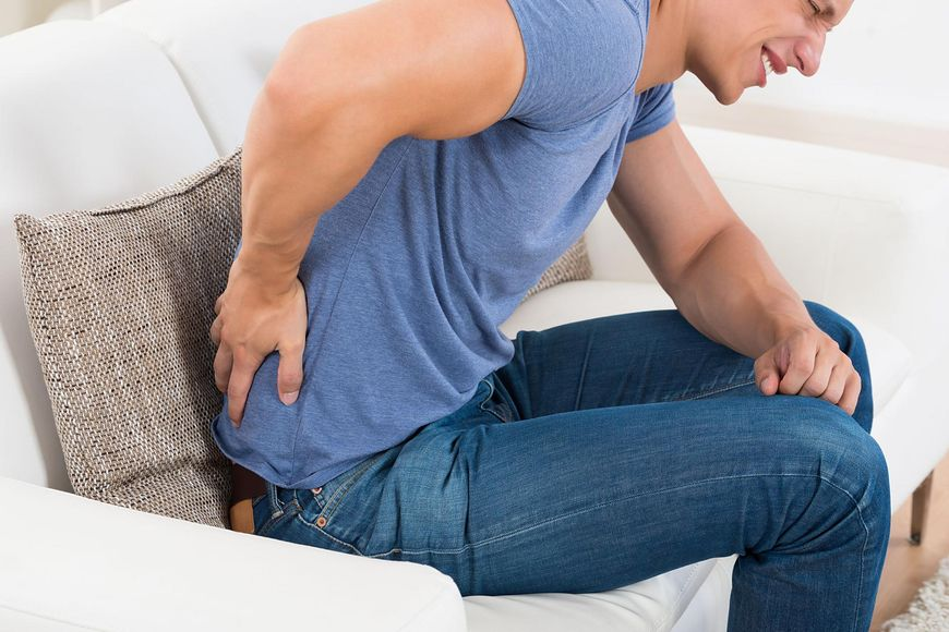 Silny ból przy przepuklinie
