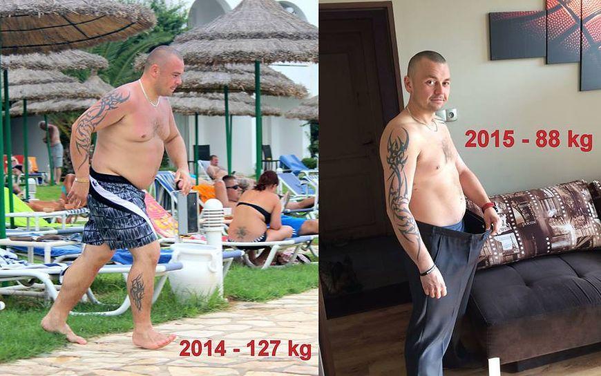 Grzegorz zgubił 39 kg i jak na razie utrzymuje nową wagę