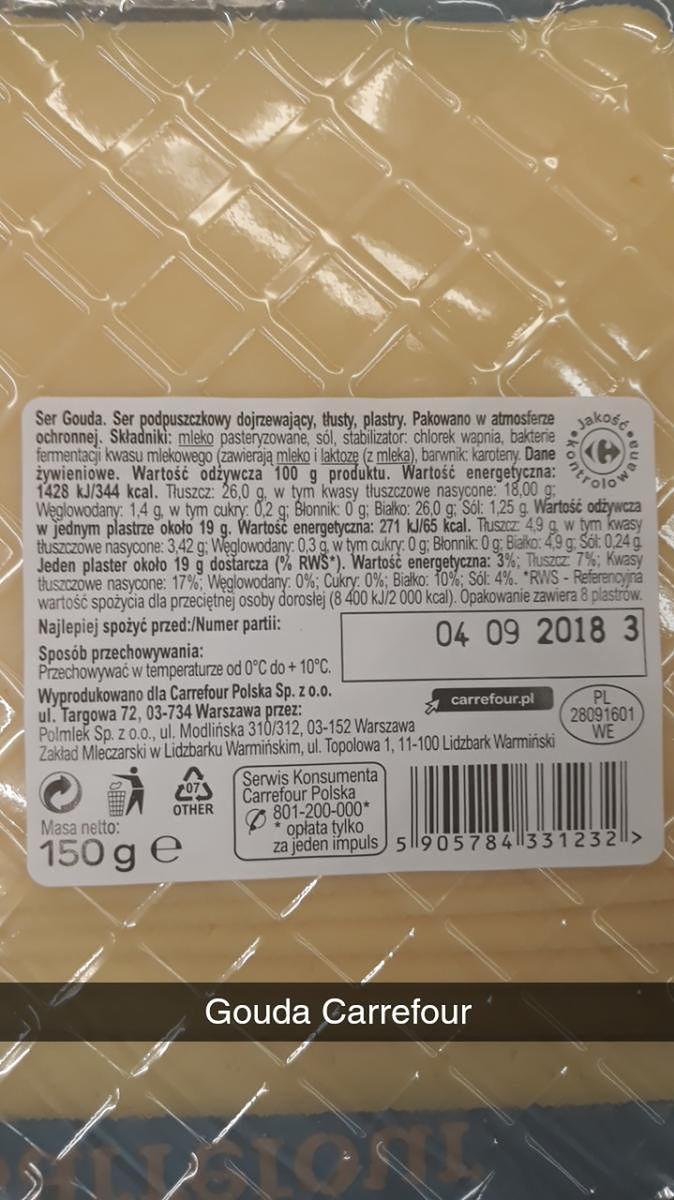 Gouda z Carrefour