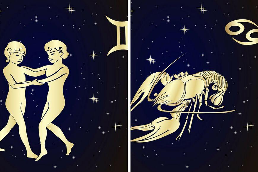 Wizerunki znaków zodiaku - Bliźnięta i Rak