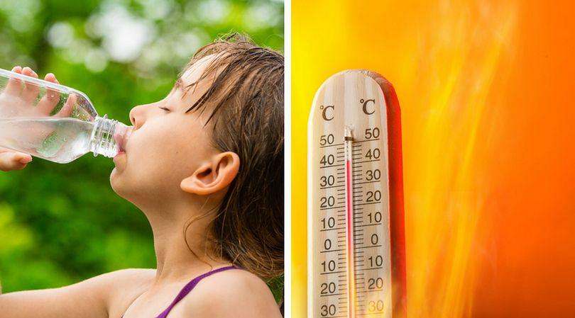 Picie wody jest bardzo ważne w gorące dni, aby uniknąć odwodnienia