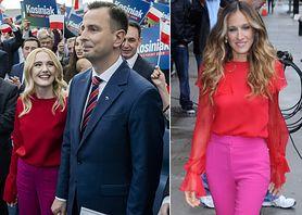 """STYLOWE MAMY: Paulina Kosiniak-Kamysz i wiosenny color blocking a'la """"Sex w wielkim mieście"""""""