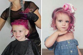 """Pofarbowała 2-letniej córce włosy na różowo. """"Powinni jej ograniczyć prawa rodzicielskie"""""""