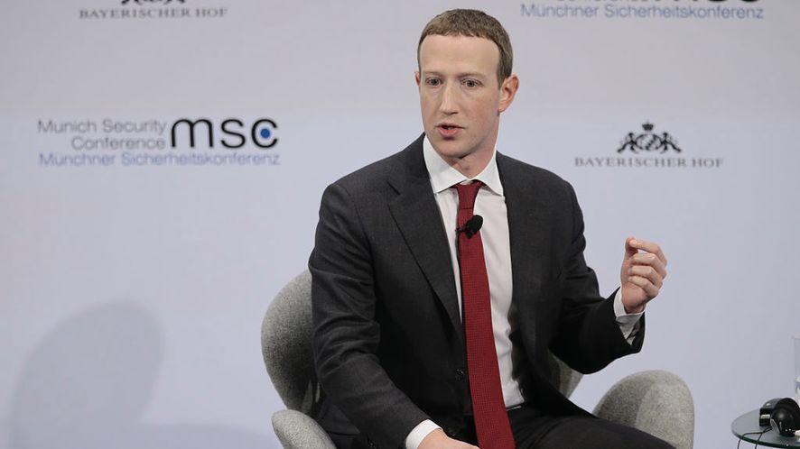 Prezes Facebooka, Mark Zuckerberg, na Munich Security Conference, fot. Getty Images