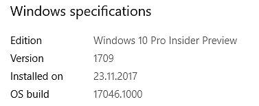 Podana data instalacji - było to wcześniej?