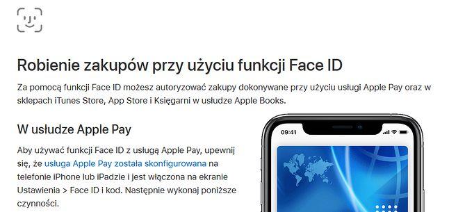 Face ID to nie tylko logowanie, to także bezdotykowe zakupy (fot. Apple)