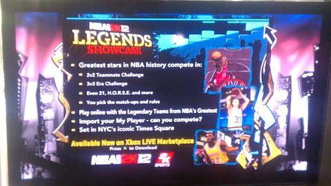 Legends Showcase - płatny dodatek do NBA 2K12?