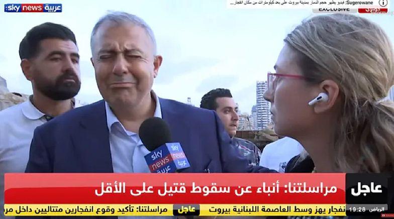 Wybuch w Bejrucie. Burmistrz płacze na wizji