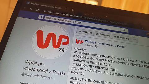 Uwaga! Oszuści podszywają się pod Wirtualną Polskę, obiecują łatwy zysk