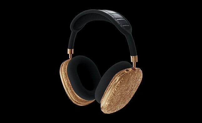 Złote słuchawki AirPods Max
