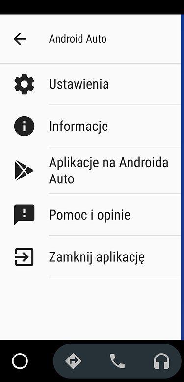 Krok 1: wybór widoku Informacje z menu.