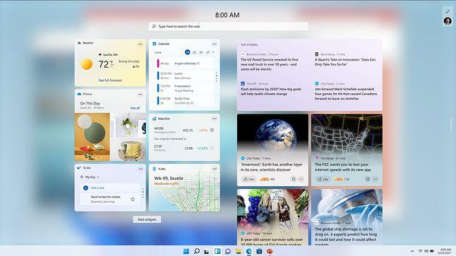 Windows 11 oficjalnie. Jest szybszy, ładniejszy i bezpieczniejszy od Windows 10 - Kadr z prezentacji Windows 11