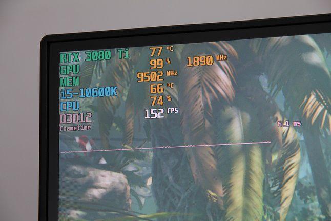Roz. 1080p: w tej samej lokacji i7-7740X wypracowało 138 fps a Afterburner wykazywał 88% obciążenia GPU.