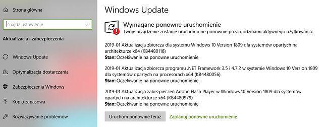Styczniowe aktualizacje bezpieczeństwa są już dostępne za pośrednictwem Windows Update.
